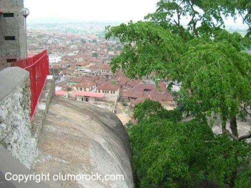 View from Olumo rock of surrounding Abeokuta city