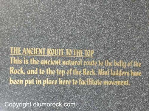 Rock imprint: The ancient route to the top