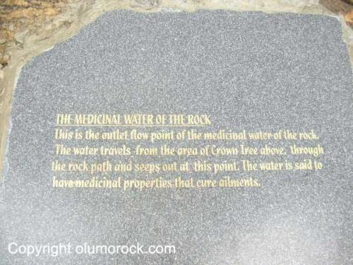 Plaque: Medicinal water of the rock