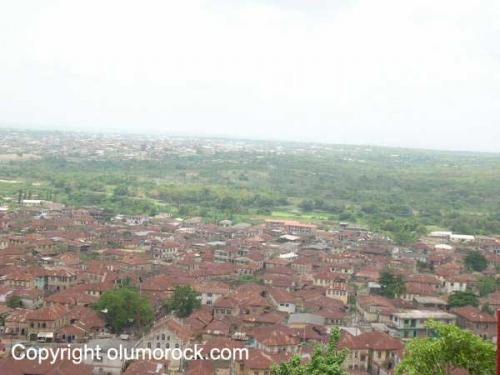 A view of the surrounding Abeokuta city